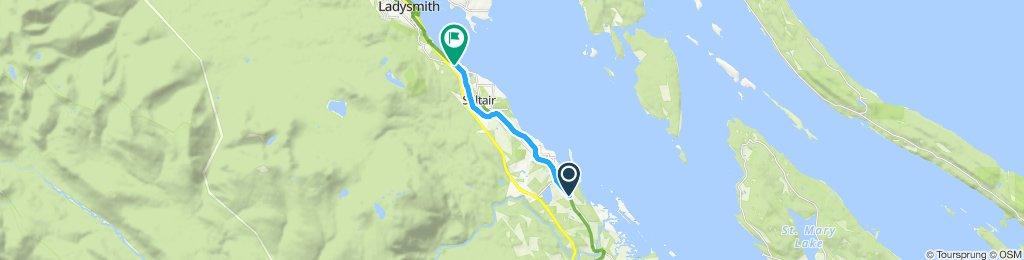 Easy ride in Ladysmith CV Trail