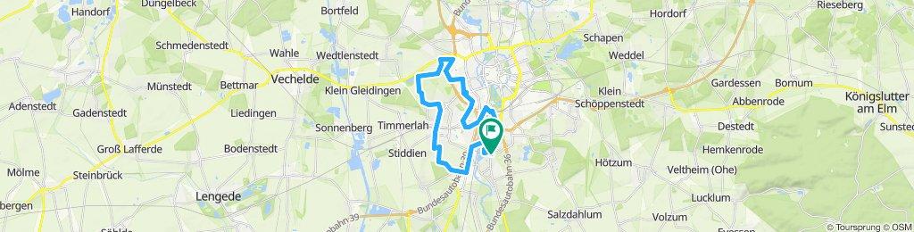 Gerade Fahrt in Braunschweig West
