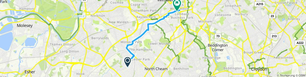 Steady ride in Worcester Park