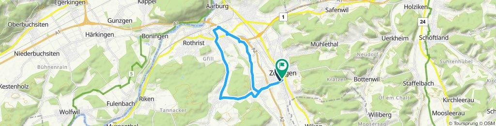 Zofingen-Oftringen-Rothrist-Grod-Vordemwald-Zofingen