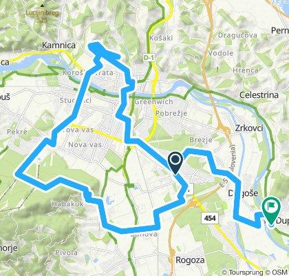 Snail-like route in Duplek