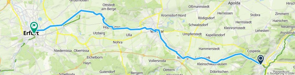 Gemütliche Route in Kahla