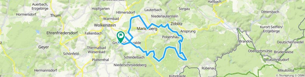Gemütliche Route in Großrückerswalde