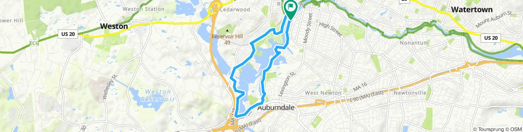 Moderate route in Waltham