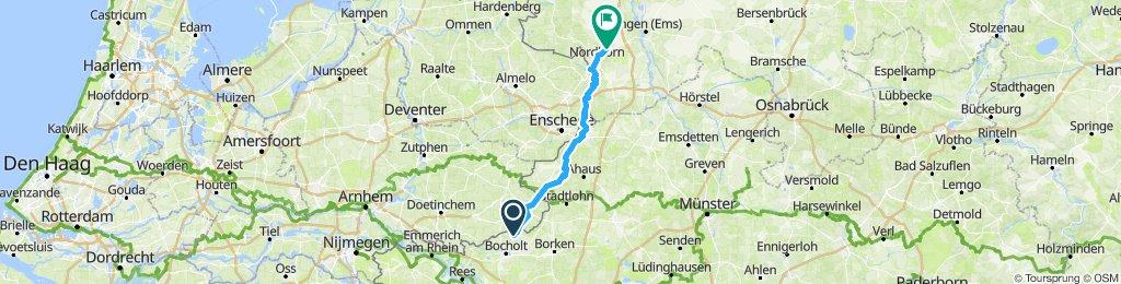 von Barlo nach Nordhorn