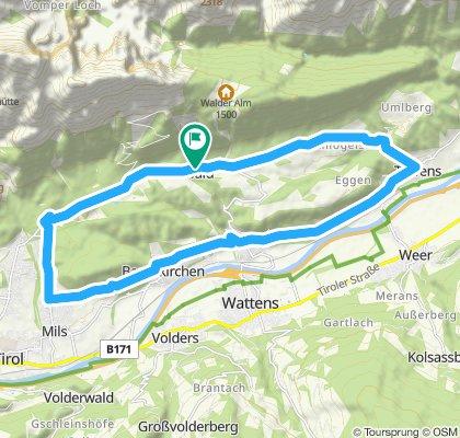 Gnadenwald- Terfens -Baumkirchen-Mils- Gnadenwald