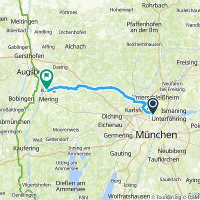 München nach Kissing