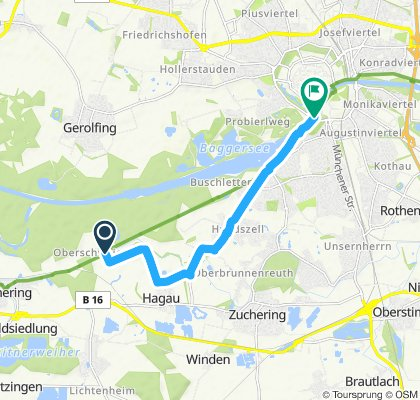 Weichering nach Ingolstadt