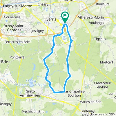 Boucle 30Km - Bailly-Romainvilliers