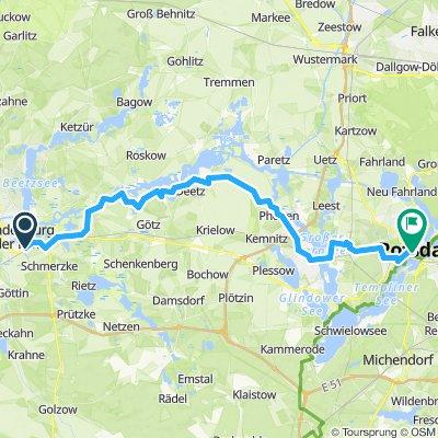 Von Bahnhof Stadt Brandenburg nach Havelradweg