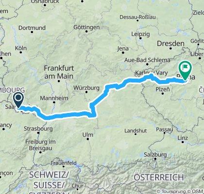 Tour 2019: Püttlingen - Prag