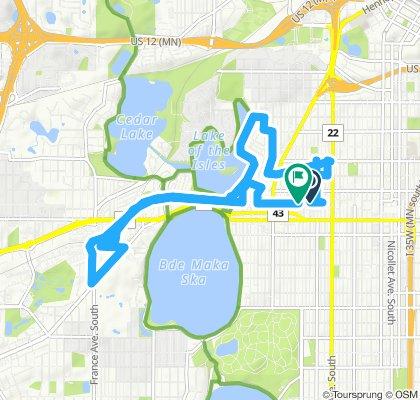 Snail-like route in Minneapolis
