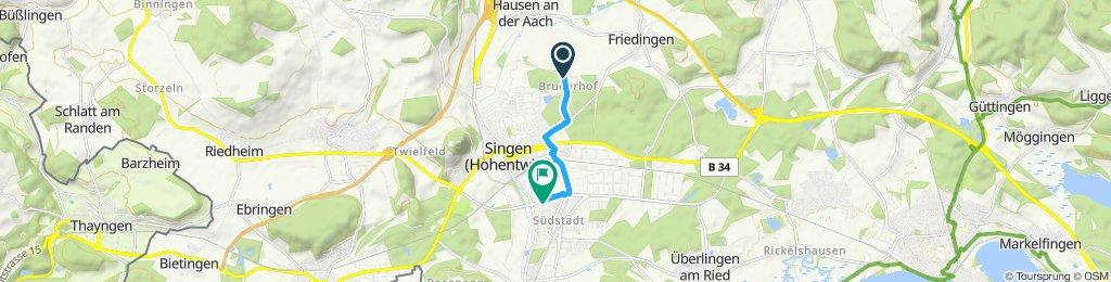 Langsame Fahrt in Eigeltingen