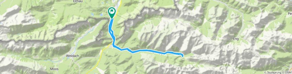 Mittenwald - an der Isar entlang zur Quelle - Kastenalm und zurück