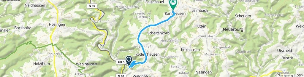 Route im Schneckentempo in Übereisenbach