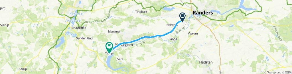 Snail-like route in Bjerringbro