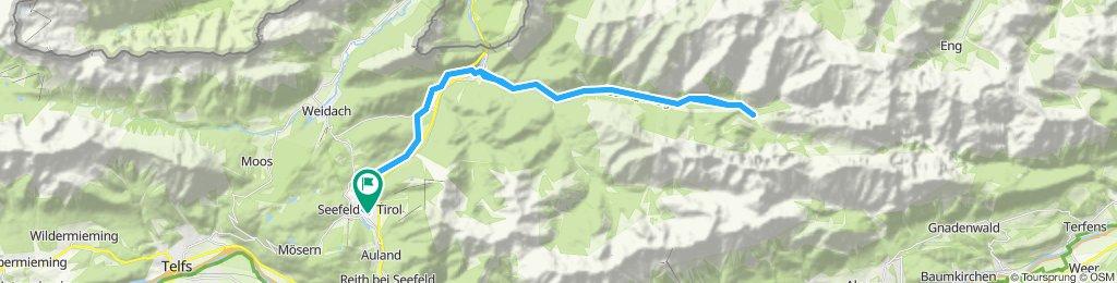 Seefeld - Bodenalm - Scharnitz - Isarsprung - Kastenalm - Seefeld