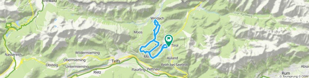 Seefeld - Mösern - Wildmoos - Katzenkopf - Fludertal - Seefeld