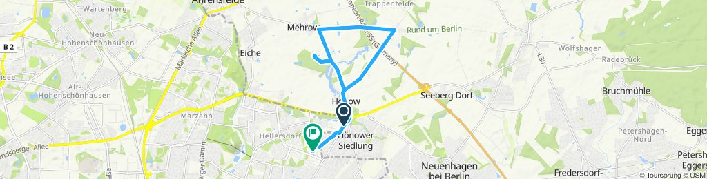 entspannte Route: Hellersdorf/Mehrow