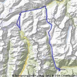 Chiavenna-Passo dello Spluga-Passo del San Bernardino