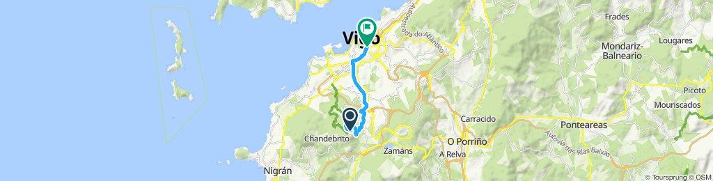 Mirador do Monte Cepudo hasta Plaza España, Vigo.