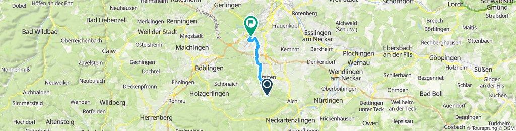 Langsame Fahrt in Stuttgart