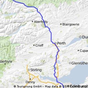 LeJOG Day 8 - Gorebridge to Dalwhinnie via Pitlochry