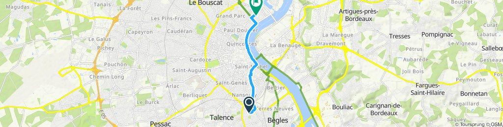 Itinéraire confortable en Bordeaux