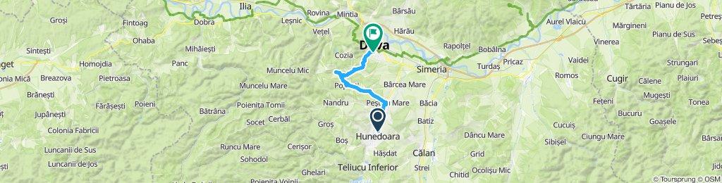 Traseu Hunedoara-Deva