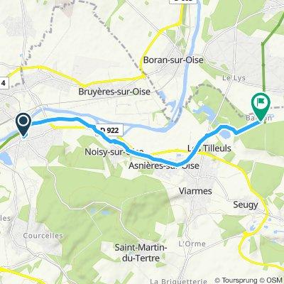 Steady ride in Asnières-sur-Oise