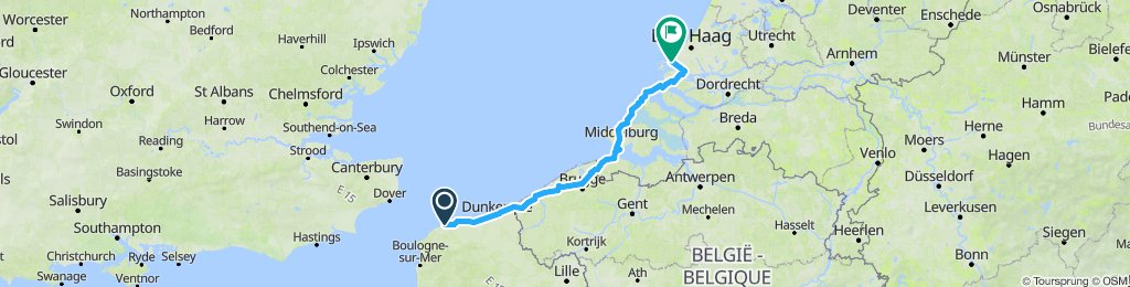 Calais to the Hoek of Holland