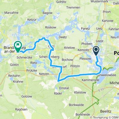 Fontaneradweg - Variante 2 - Werder (Havel) > Brandenburg an der Havel