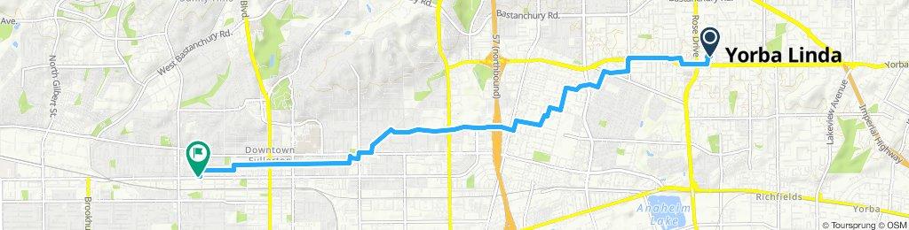Slow ride in Fullerton