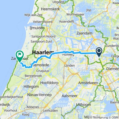 Amsterdam - Haarlem - Zandvoort   Bikemap - Deine Radrouten