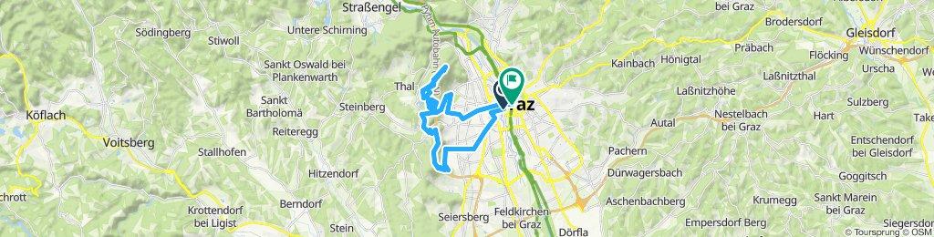 Langsame Fahrt in Graz