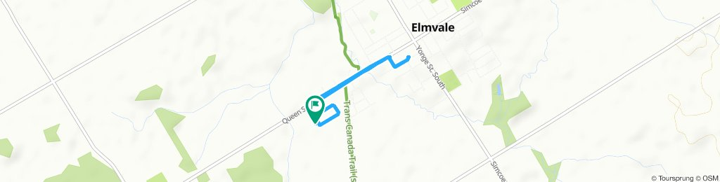 Snail-like route in Springwater