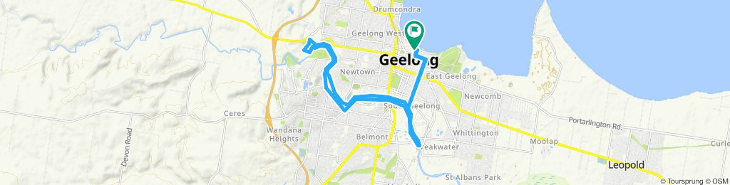 Relaxed route in Geelong
