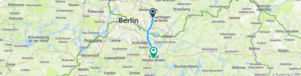 Gerade Fahrt in Königs Wusterhausen