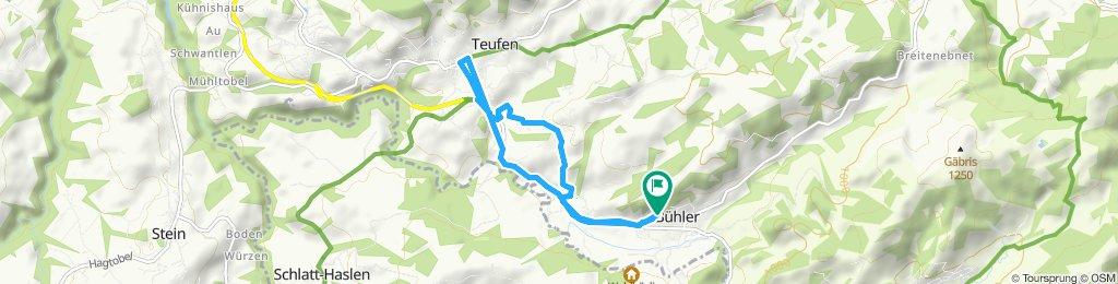 Gemütliche Route in Bühler