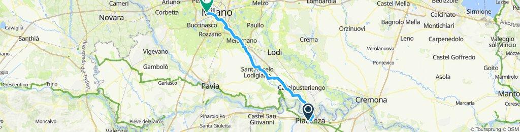 Plaisance to Milan direct