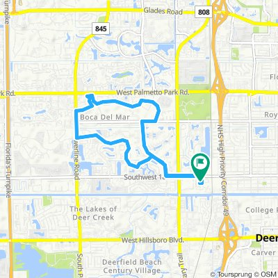 Cycling routes and bike maps in and around Deerfield Beach | Bikemap on