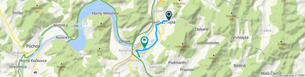 Stredná trasa Považská Bystrica