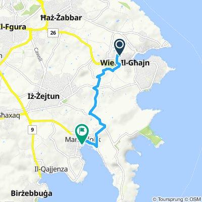 Relaxed route in Marsaxlokk