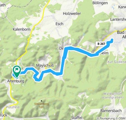 Gerade Fahrt in Altenahr