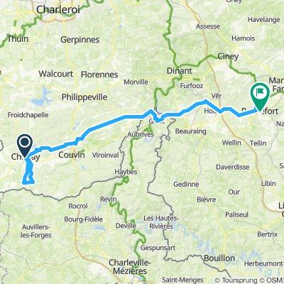 Chimay-Scourmont-St Rémy-Rochefort 102km
