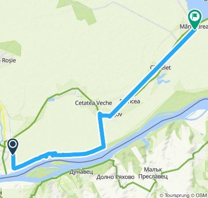 Ride from Oltenița to Mânăstirea