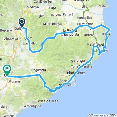 long coastal girona route