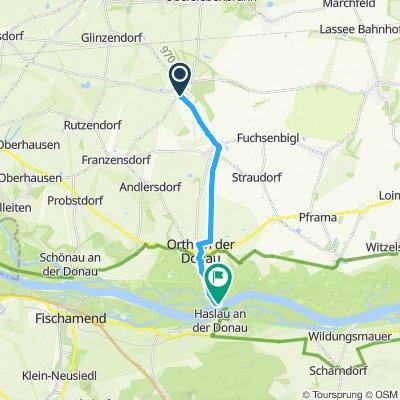 Route im Schneckentempo in Orth an der Donau