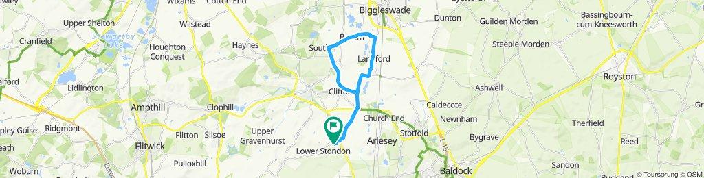 Snail-like route in Henlow