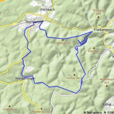 MTBPark Pfälzerwald: Tour 4 Hochspeyer Runde CLONED FROM ROUTE 2112